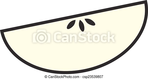 Sliced Apple Drawing Apple Slice Clipart
