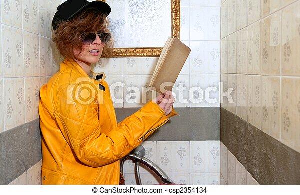 eighties fashion metaphor rebel student - csp2354134