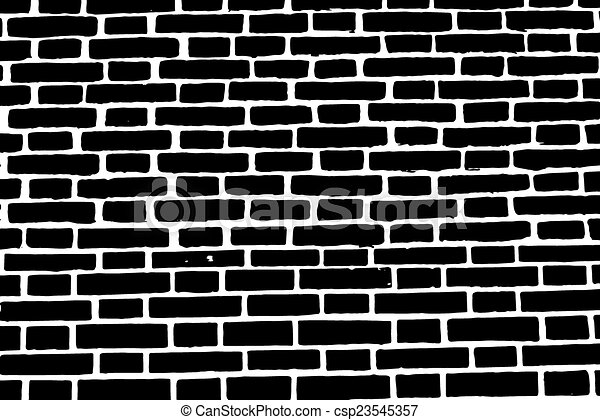 Clipart Vector Of Black Brick Wall Texture Background Old