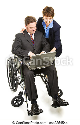Helping Disabled Businessman - csp2354544