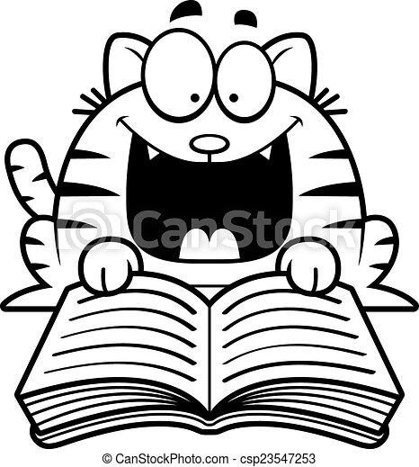vecteur clipart de lecture  dessin anim u00e9  chat a  dessin reading clip art free reading clip art for kids
