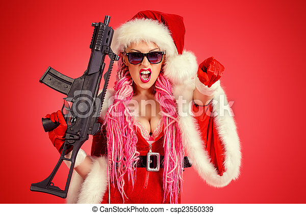 Stock Photos of gangster girl - Expressive sexy babe dressed as ...