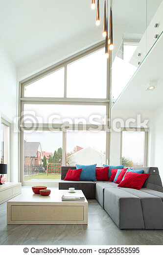 Stockfotografien Von Kissen Ecke Farbe Sofa