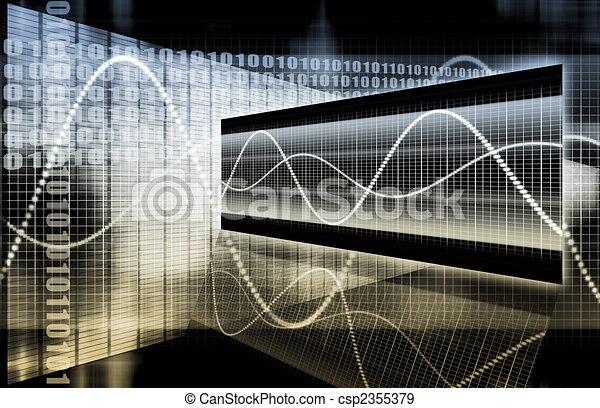 Sleek Futuristic Business Chart - csp2355379