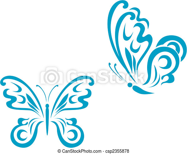 Butterfly tattoo - csp2355878