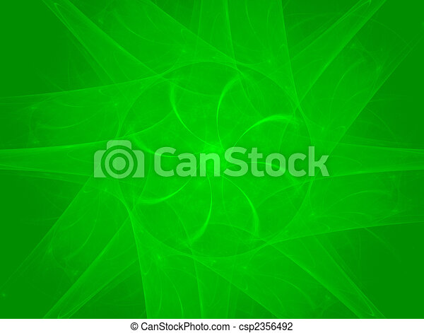 Green rotation -  abstract rendered background - csp2356492
