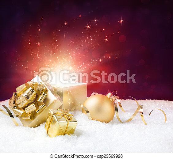 magic shining of christmas present
