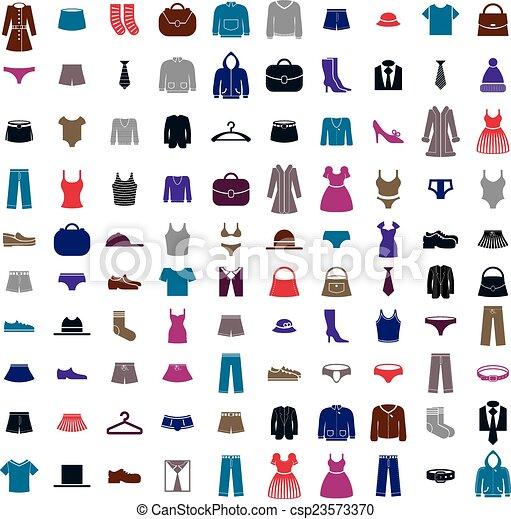 Clothes icon vector set - csp23573370