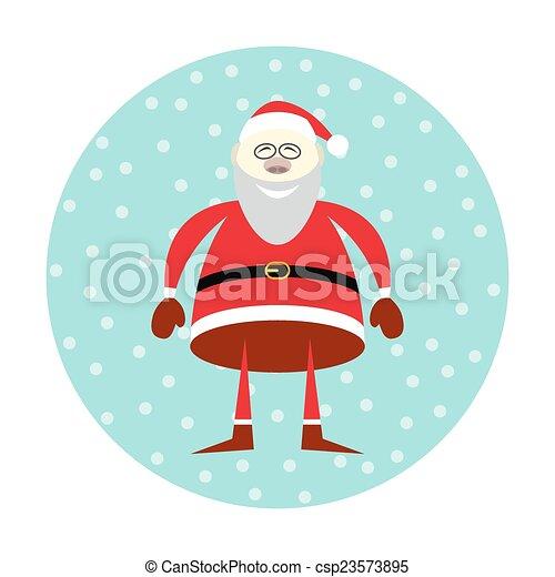Icon of smiling Santa Claus  - csp23573895