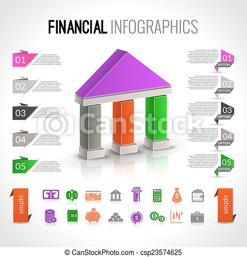Bank financial infographics - csp23574625