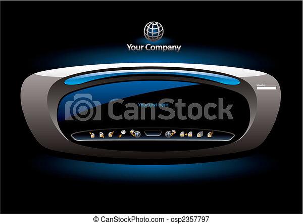 Futuristic editable website interface - csp2357797