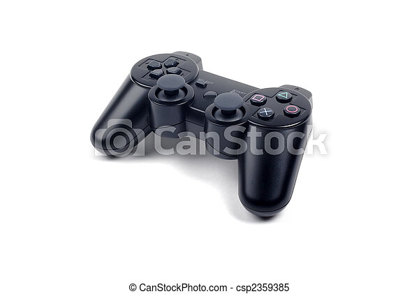 Joystick controller for games isolated on white background with shadow. - csp2359385