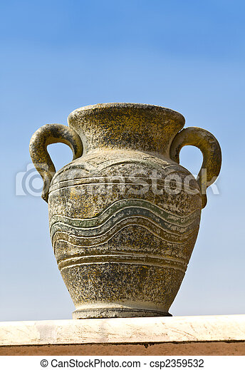 copie exacte, Ancien, Grec, cratère - csp2359532