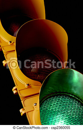 Traffic light-Illuminated Green - csp2360055