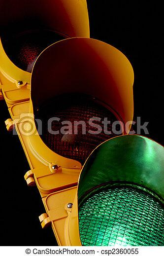 Traffic light-Illuminated Green - csp2360055