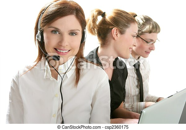 Business helpdesk with beautiful woman - csp2360175