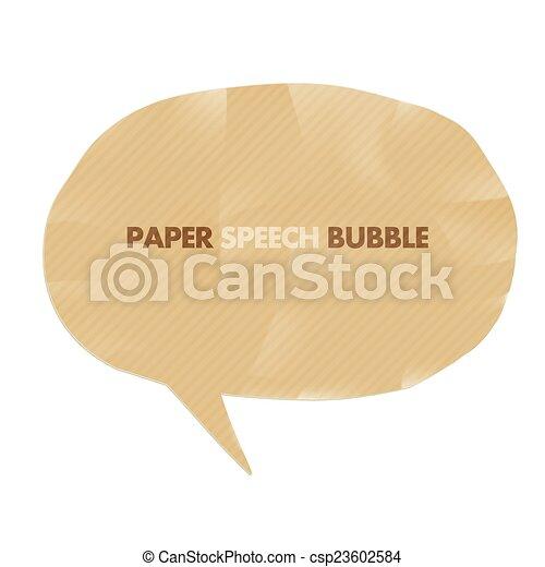 Paper speech bubble. Vector - csp23602584