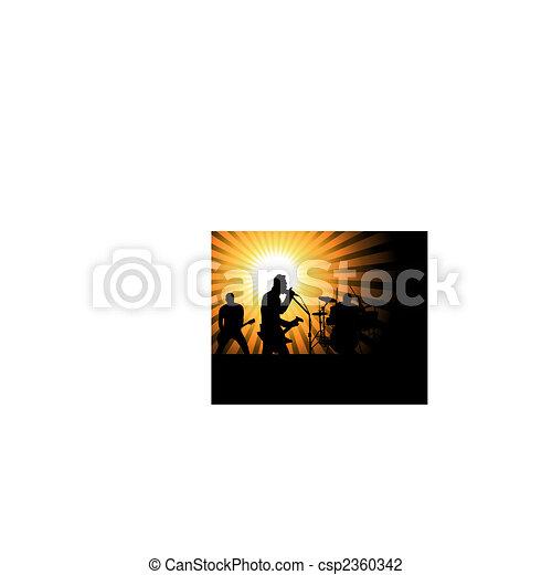 rock group - csp2360342
