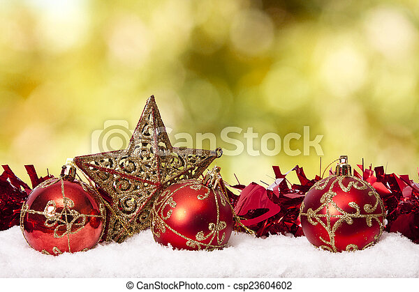 funds with traditional Christmas decoration and Christmas holidays - csp23604602