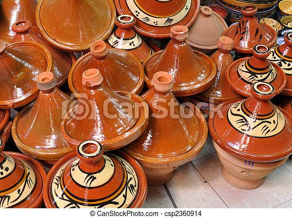 Ceramics for sale in Marrakech, Morocco - csp2360914
