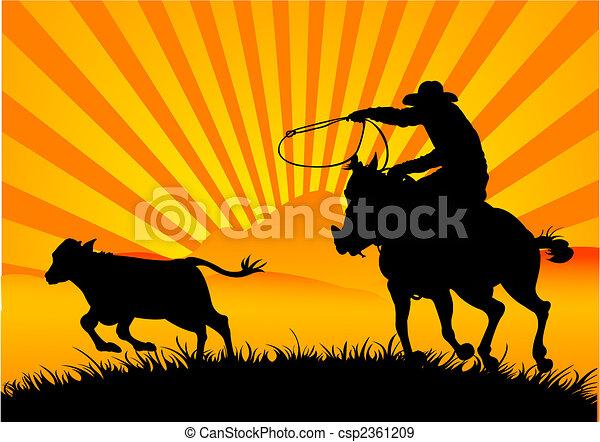 Riding cowboy - csp2361209