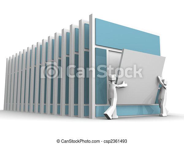 Website template development team work concept - csp2361493