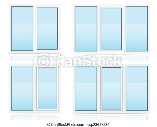 vektoren von plastik durchsichtig fenster ansicht innen drau en csp23617234 suchen. Black Bedroom Furniture Sets. Home Design Ideas