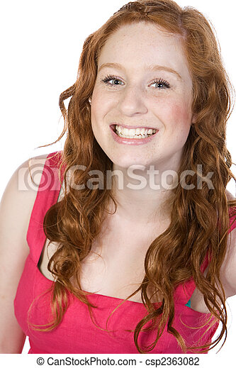 Shot of a Cheeky Teenager Smiling - csp2363082