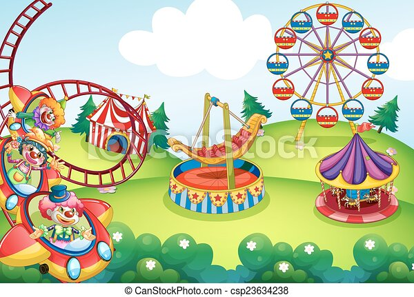 Vectors of Theme park - Wallpaper of circus and theme park design ...