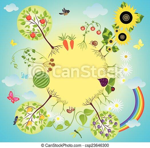 Vector Clipart of Vegetable garden csp23646300 Search Clip Art