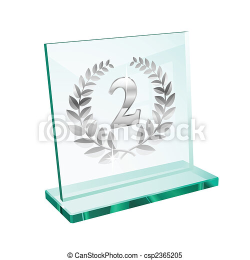 Silver trophy for second - csp2365205
