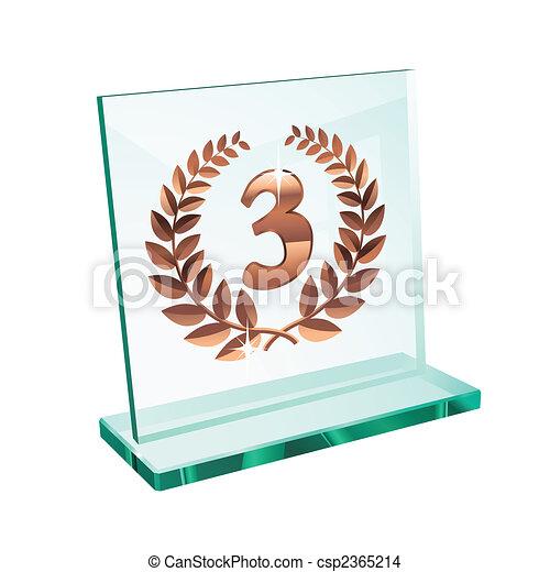 Bronze trophy for third - csp2365214