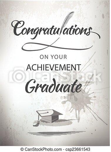 Congratulations Graduate with morta - csp23661543
