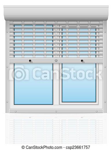 stock illustrationen von illustra metall fenster plastik perforiert hinten csp23661757. Black Bedroom Furniture Sets. Home Design Ideas