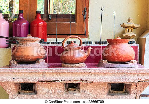 Old kitchen ancient kitchen Old stove