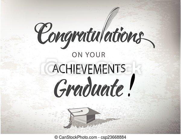 Congratulations Graduate with morta - csp23668884