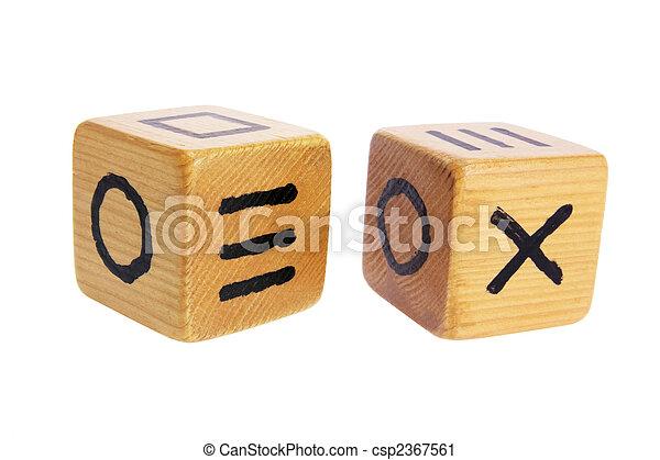 Wooden Dice - csp2367561