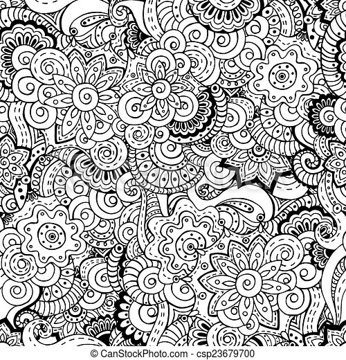 Vector Seamless Asian Floral Retro Background Pattern Stock