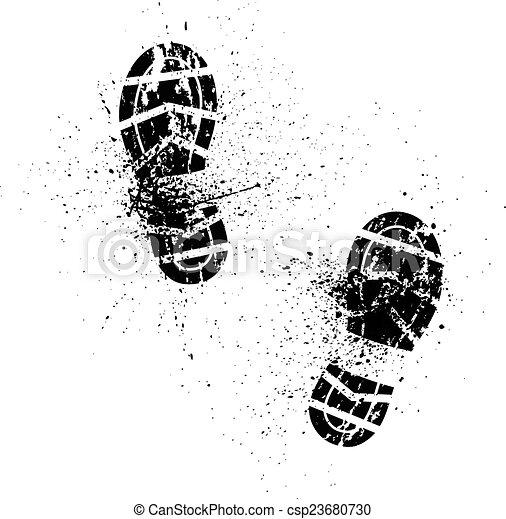 Shoe Prints Drawing Splash Shoe Print