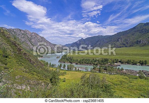 Vallée de la rivière russe choisir