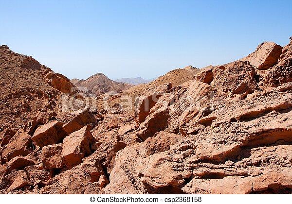 rochoso, deserto, paisagem, perto,  Eilat, em,  Israel - csp2368158