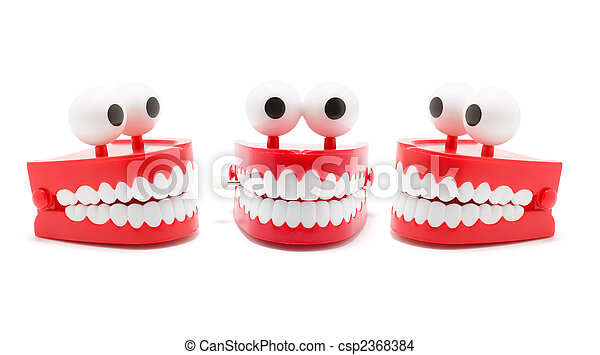Stock Photo of Chattering Teeth on White Background ...