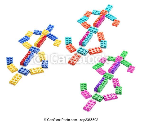 Dollar Symbols  - csp2368602
