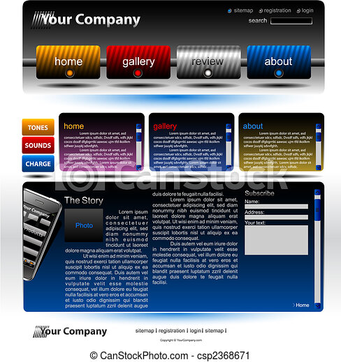 Editable website template - csp2368671