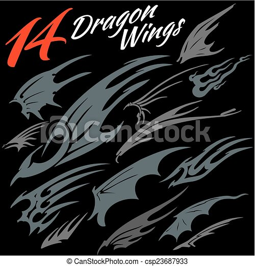Wings of the dragon. - csp23687933
