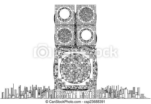 Futuristic Skyscrapers Drawings Futuristic Megalopolis