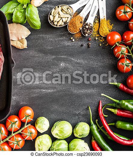 cibo, fondo - csp23690093