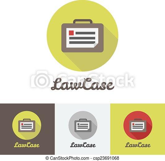 Vector flat modern minimalistic briefcase logo  - csp23691068