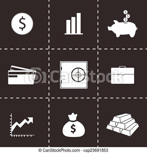 Vector bank icons set - csp23691853