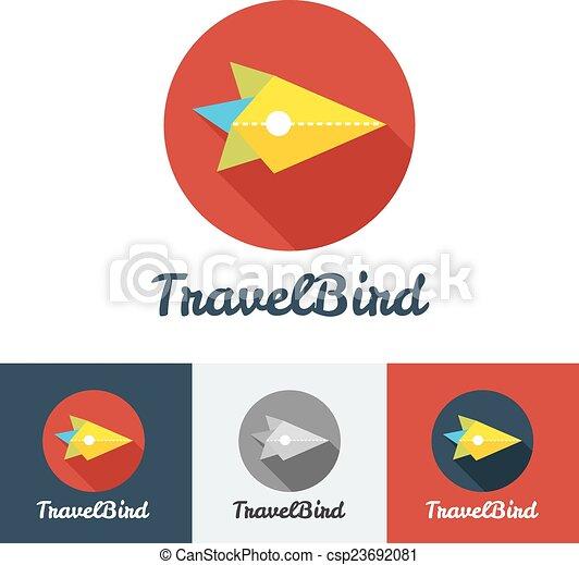 Vector modern flat creative travel company minimalistic logo  - csp23692081
